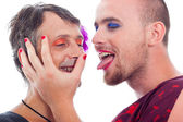 Transvestites flirting — Stock Photo