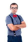 Self-confident nerd — Stock Photo
