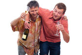Drunken men — Stock Photo