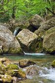 山间溪流与瀑布 — 图库照片