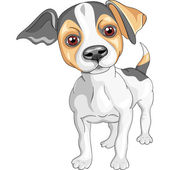 Vector sketch dog Jack Russell Terrier breed — Stock Vector