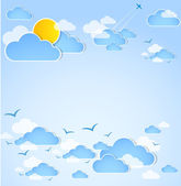 Good weather. Blue sky with clouds. — Stock Photo