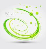 Abstract green wave. Vector — Stock Vector