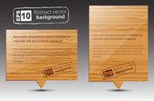 Vector wooden pointers. — Stock Vector
