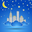 City at night. Vector - Stock Vector