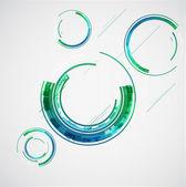 Abstract color technology circles. Vector — Stock Vector