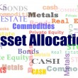 Stock Photo: Asset allocation word cloud