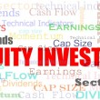 Equity investing cloud — Stock Photo