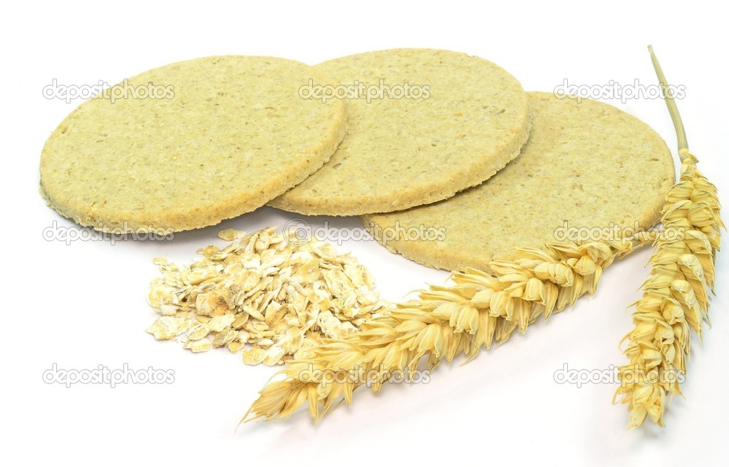 Traditional Scottish oat cakes on a white background — Stock Photo #12143434