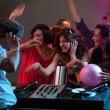 Stock Photo: Women flirting with dj in night club