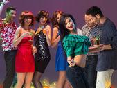 Sexy woman dancing in night club — Stock Photo