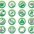 Set of finance and bank icons — Stock Vector