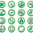 Set of finance and bank icons — Stock Vector #11238667