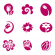 Flower and floral elements - Stock Vector