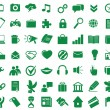 Set of functional and used web icons — Stock Vector
