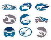 Conjunto de elementos de auto para su emblema o insignia — Vector de stock