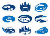 Car elements for your logo — Stock Vector