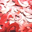 Red hearts confetti — Stock Photo #10974002