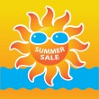Stock Vector: Summer-sale