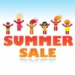 Summer-sale — Stock Vector