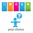Your-choice — Stock Vector