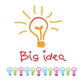 Grote idee — Stockvector