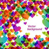 Modern-ljus-bakgrund-hjärtan — Stockvektor