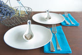 Elegant table setting — Stock Photo