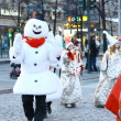 Christmas Street opening in Helsinki — Stock Photo