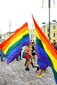 Helsinki Pride gay parade — Stock Photo