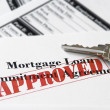 Real Estate Mortgage Approved Loan Document - Stock Photo