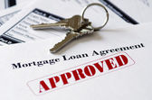 Real Estate Mortgage Approved Loan Document — Stock Photo