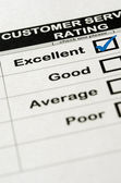 Excellent Customer Service Rating — Stock Photo