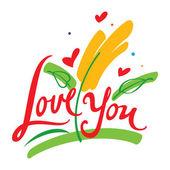 Te amo — Vector de stock