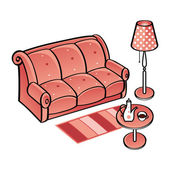 Set of Furniture — Stock Vector