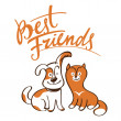 Stock Vector: Best Friends