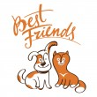 Best Friends — Stock Vector