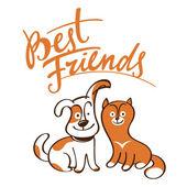 Best Friends — Stock Vector