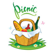 Picnic — Vector de stock