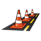 Traffic Cones — Vetorial Stock