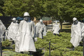 Korean War memorial sculptures — Stock Photo