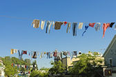 Old timers clotheslines — Stock Photo