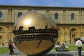 Ball sculpture on the inner court of Vatican — Stock Photo