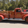 Antique  1940 year restored firefighters  truck — Stock Photo