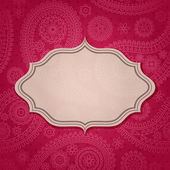Frame in the Indian style — Stock Vector