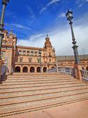 Bridge in Plaza de Espana, Seville, Spain — Stock Photo