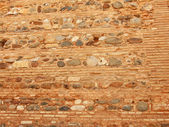 Textures masonry of Alcazaba (Military quarter) in the Alhambra, — Stock Photo