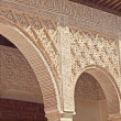Detail of arabic carvings of Patio de lAcequiain Alhambra — Stock Photo #11056660