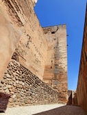Alcazaba (Military quarter) of the Alhambra in Granada, Spain. — Stock Photo