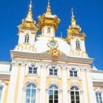 Church of grand palace in Peterhof, Russia — Stock Photo #11645267